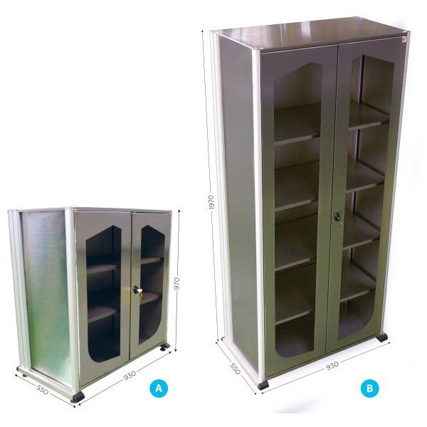 5S stainless steel workshop storage cabinet | 5S STAINLESS STEEL VISUAL CABINET
