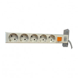 5-way power strip with power switch