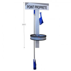 """5S Cleaning Station, Wall-Mounted, 23 x 62"""" 