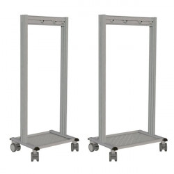 """5S Mobile Cleaning Station, Stainless steel, 25 x 29 x 62""""   NETPOST 650 STAINLESS STEEL"""