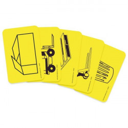 Adhesive pictogram for floor marking