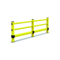 Post for a circulation barrier fixed to the ground   Circulation barrier