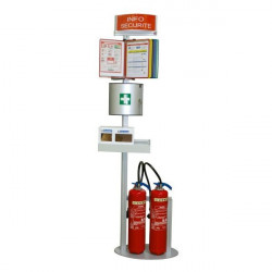 Safety terminal for fire extinguisher