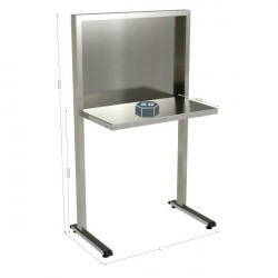 Stainless-steel Quality Control Station, Stainless-steel, Multiple Size Options | QUALIPOST 650C STAINLESS STEEL