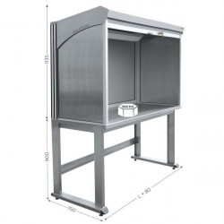 Stainless-steel Quality Control Station, Various Sizes | QUALIPOST 4500A