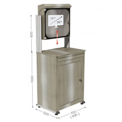Stainless steel computer cabinet   MOBIPOST 550A STAINLESS STEEL