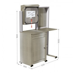 Stainless steel computer cabinet   MOBIPOST 550B STAINLESS STEEL