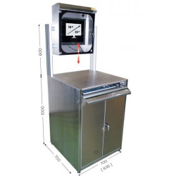 Stainless steel computer cabinet | MOBIPOST 950 STAINLESS STEEL