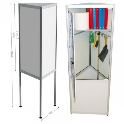 3-Sided Magnetic Whiteboard, Optional Storage Space | TRISPACE