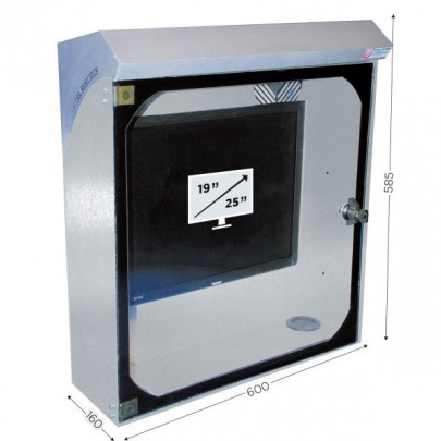Stainless steel screen protecton box   INFOPOST 250 STAINLESS STEEL