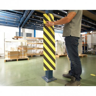 Yellow/black protection strips   ADHESIVE PROTECTIVE STRIPS