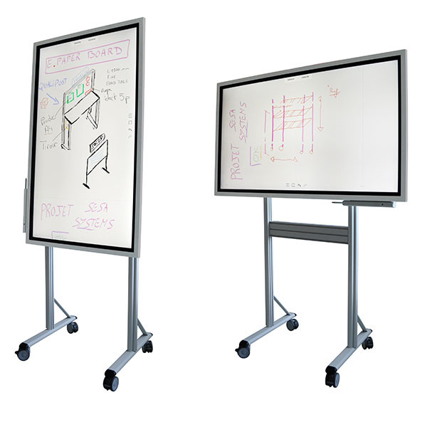 Base with castors with 90° swivel screen mounting for E-PAPERBOARD