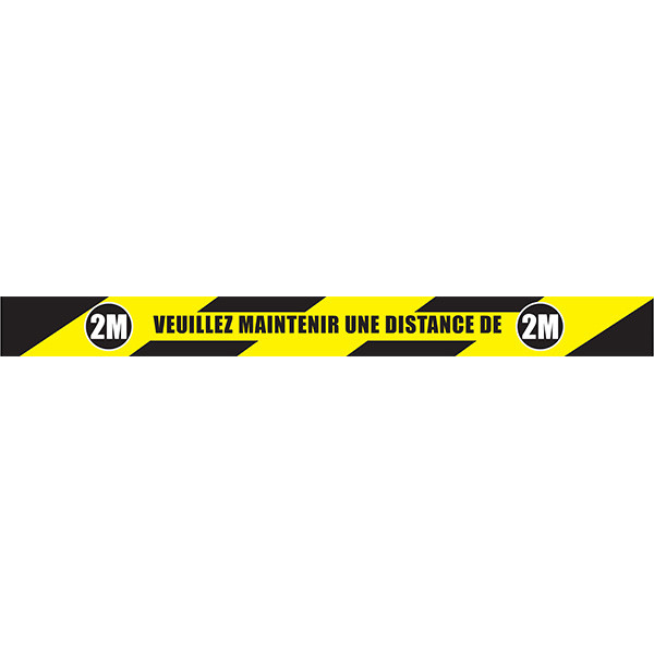 Keep your distance 6FT - Roll of EXTRA marking tape | Roll of marking tape: keep your distance 6FT
