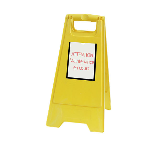 Yellow Temporary maintenance work easel   TIP'INFO