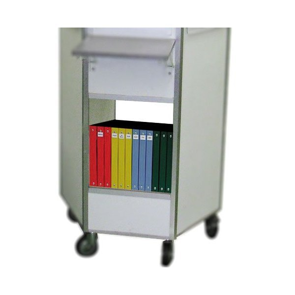 Storage shelf for binders