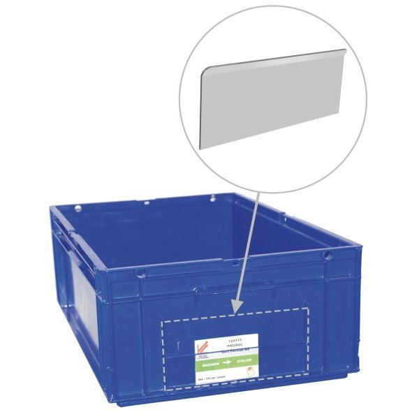 Transparent card adapter for plastic bin