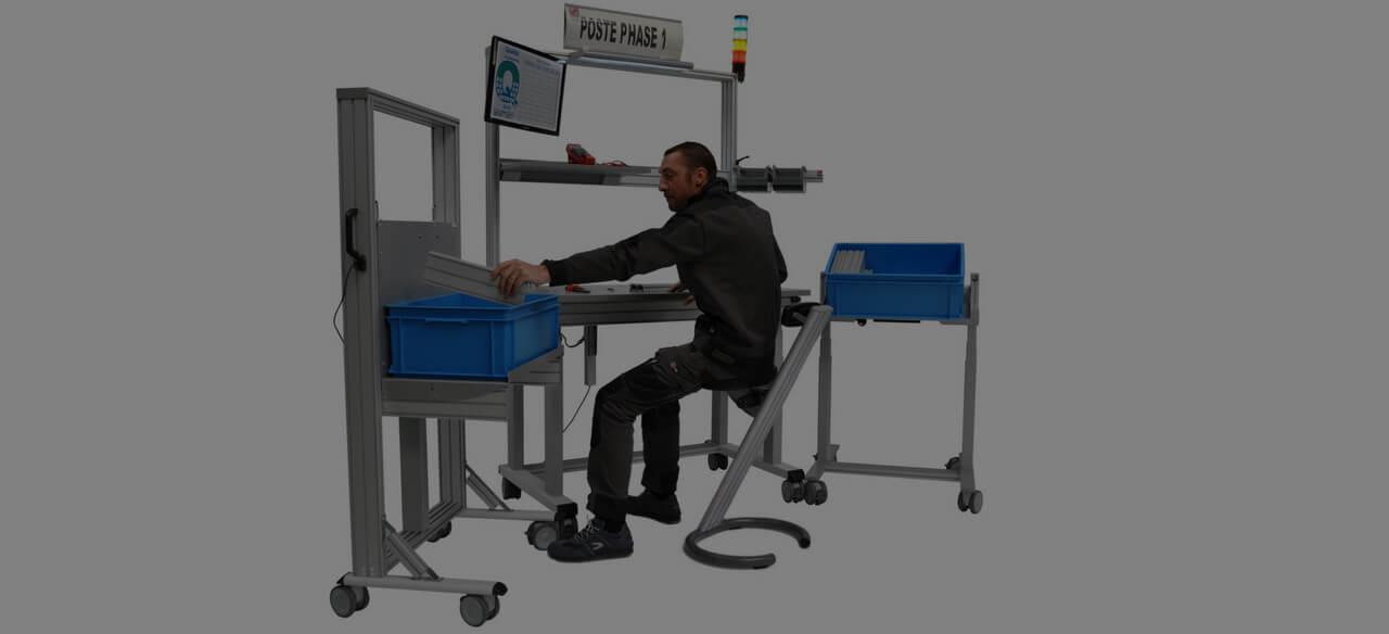 industrial workstation: posture to adopt