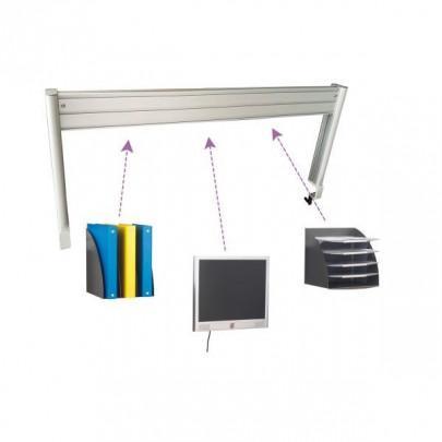 Aluminium structure for ergonomic desk   LEANERGO ALUMINIUM
