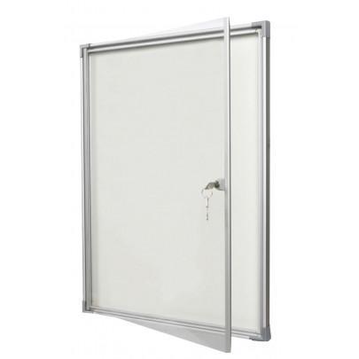 Magnetic indoor flat display case