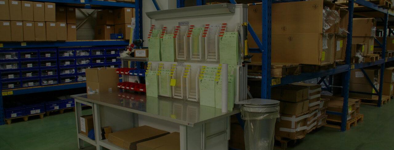 Poste de travail en milieu industriel lean manufacturing